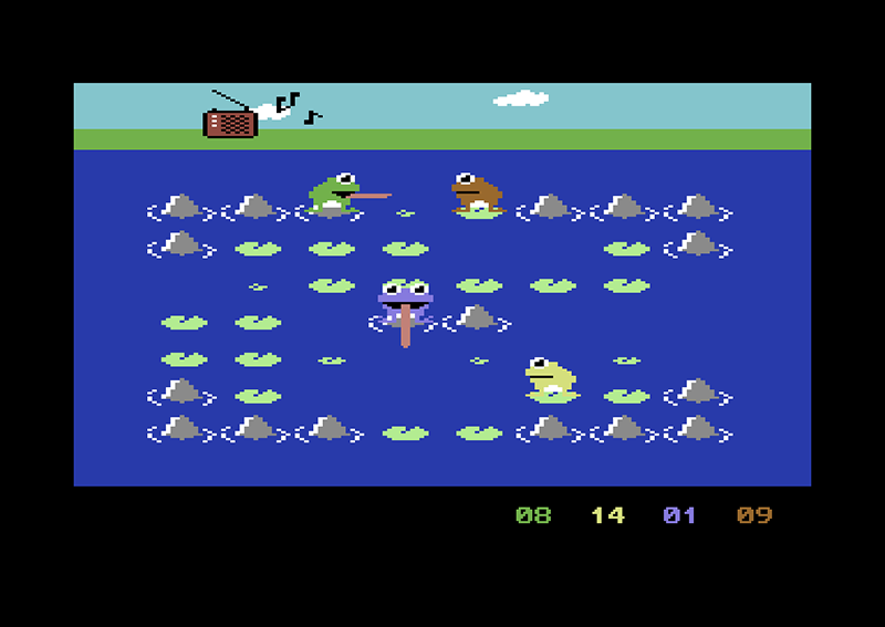 frogs Commodore 64