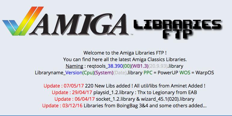 Amiga Libraries FTP