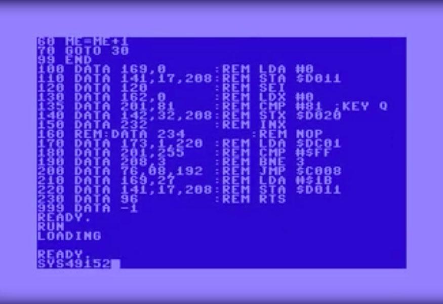 Tutoriel Commodore 64 Assembleur