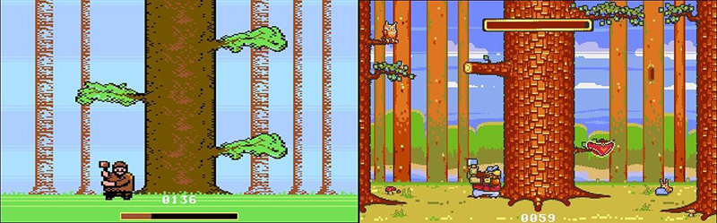 Lumberjack Reloaded C64 vs Amiga