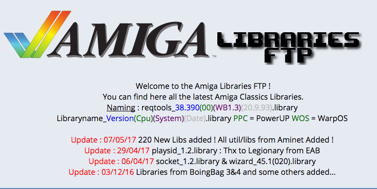 Amiga Libraries FTP