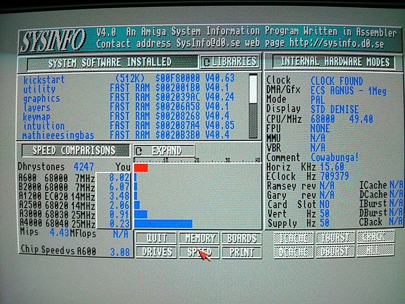 HC508 Amiga 500 accelerator