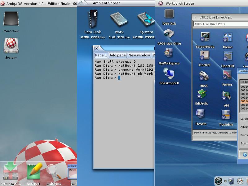 AmigaOS 4, MorphOS, ARos, ...