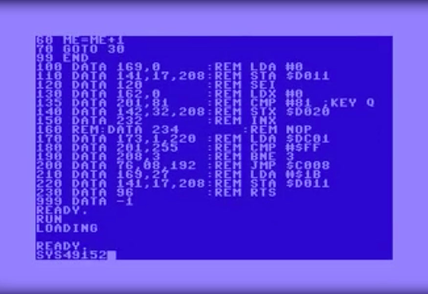 Tutoriel – Introduction au langage machine et à l'ASM C64 – Partie 1