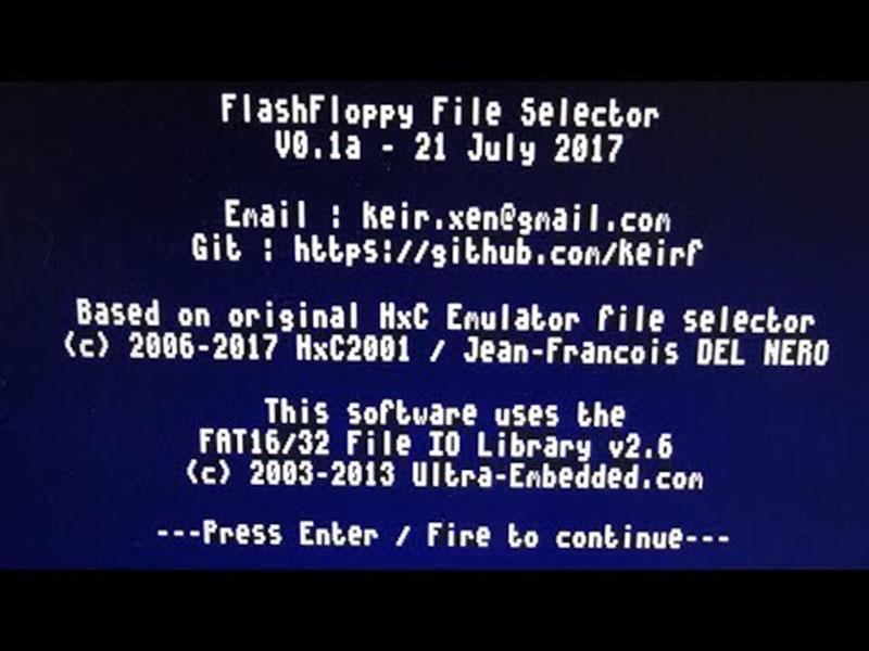 Amiga – FlashFloppy pour HxC enchaine les mises à jour
