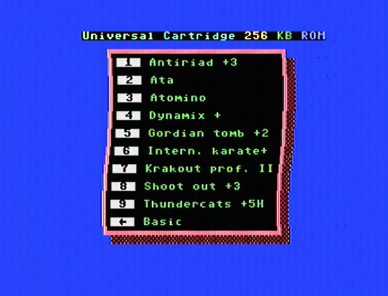 Universal Cartridge Menu Commodore64