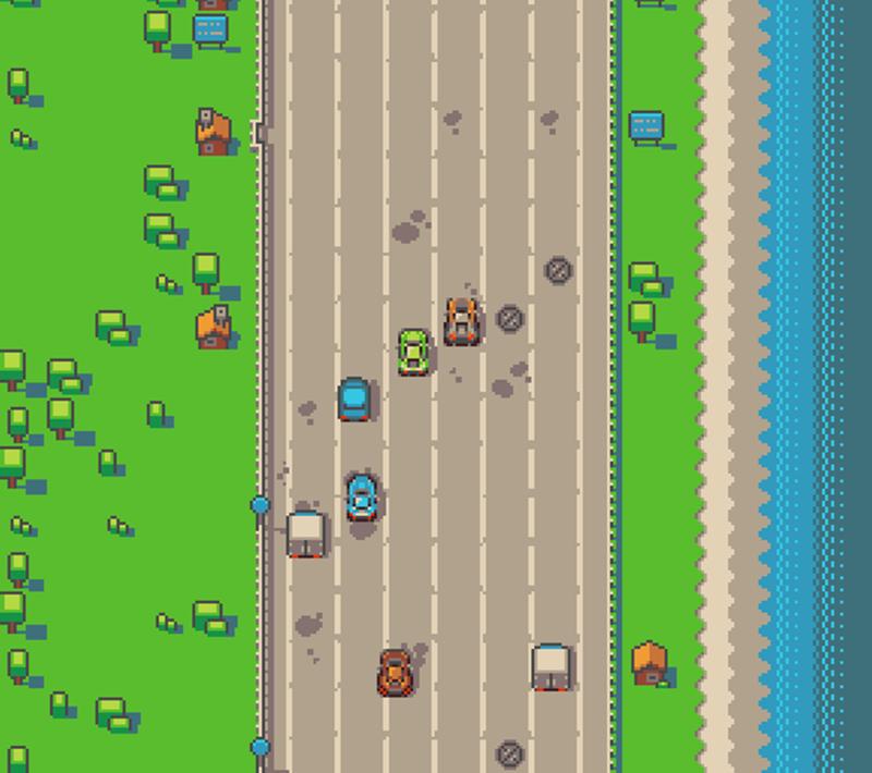 Amiga - Highway Sprint : Prototype 2