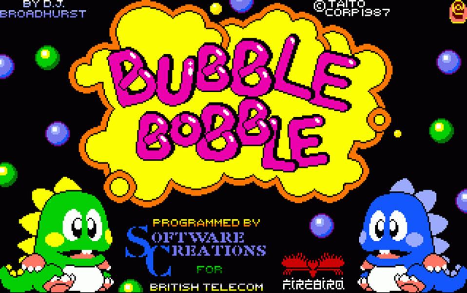 Concours du mois - Bubble Bobble - Taïto