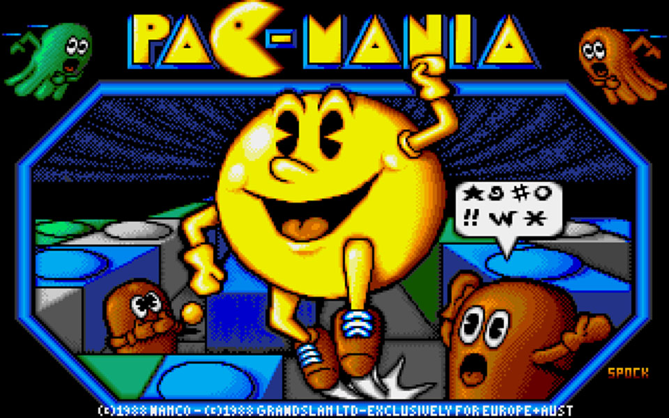 Pacmania Title