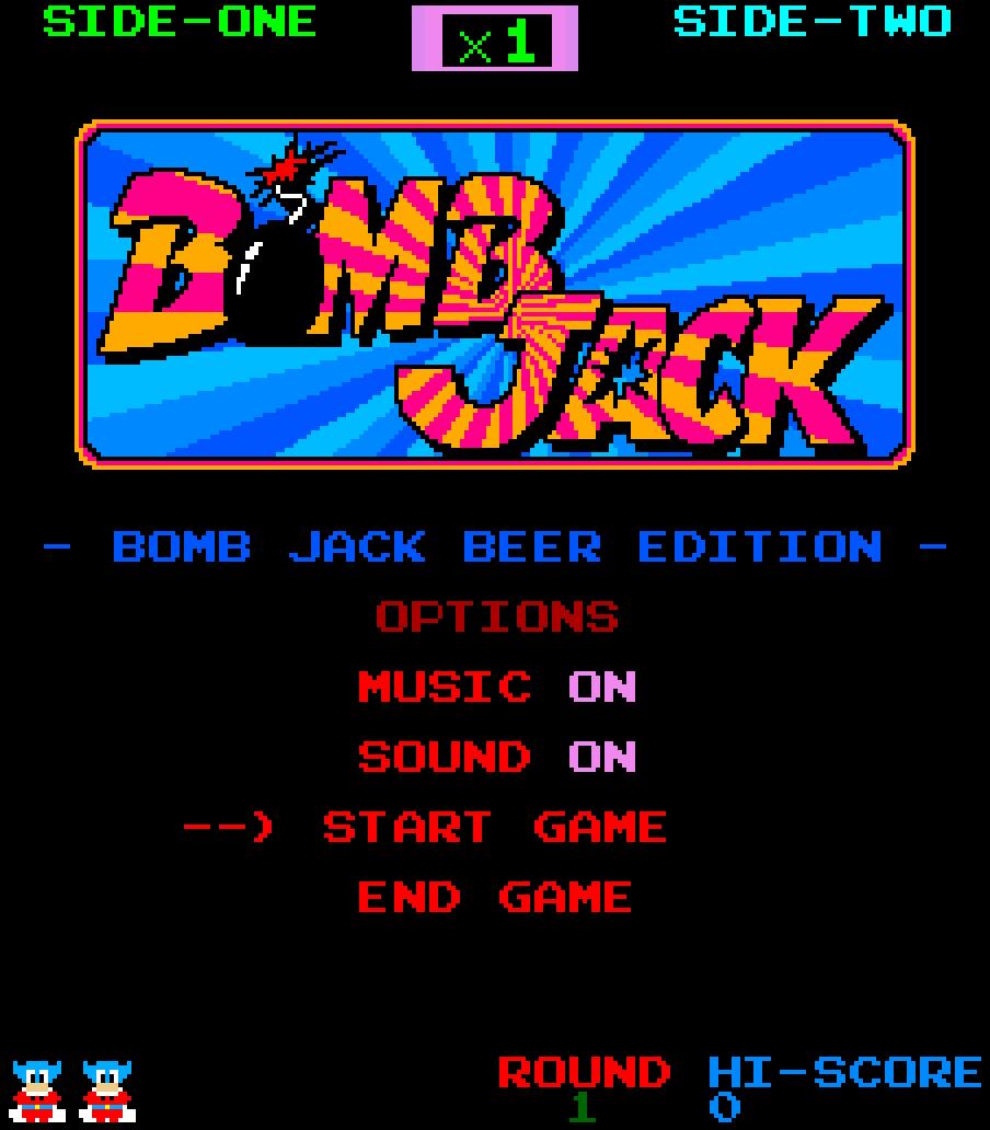 Bomb Jack Title