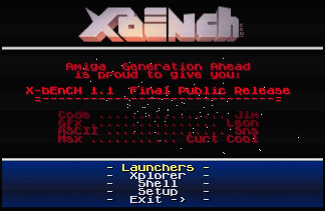 X-bEnCH - The Amiga Game Launcher (Whdload, exe,   ) and