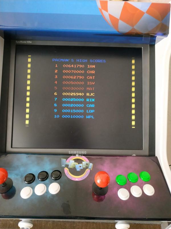 Score Pacmania Amiga sur borne MiniMig