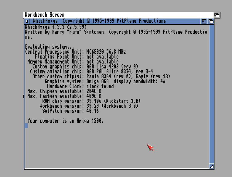 WhichAmiga v1.3.3 version HDD