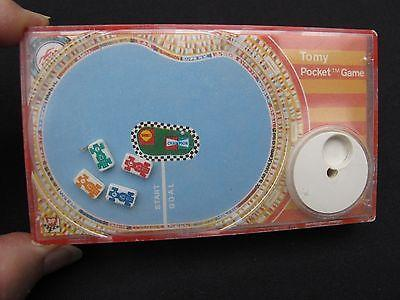 1975 TOMY Race Car Track Hand Held Pocket Game Made in JAPAN